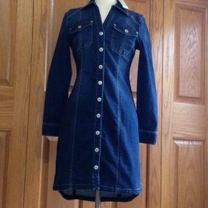 INC - Snap-Front Denim Shirt Dress - NWT